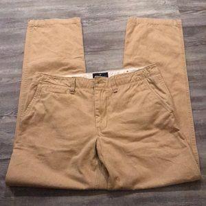 American Eagle Light Khaki Pants (Brand New)—33/34
